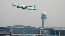 Eine Maschine der Korean Air startet am Incheon International Airport. Foto: epa/Yonhap