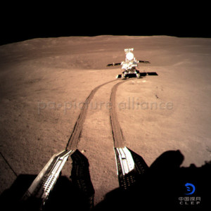 Photo provided by the China National Space Administration (CNSA) on Jan. 4, 2019 shows image of Yutu-2, China's lunar rover, at preset location A on the surface of the far side of the moon.