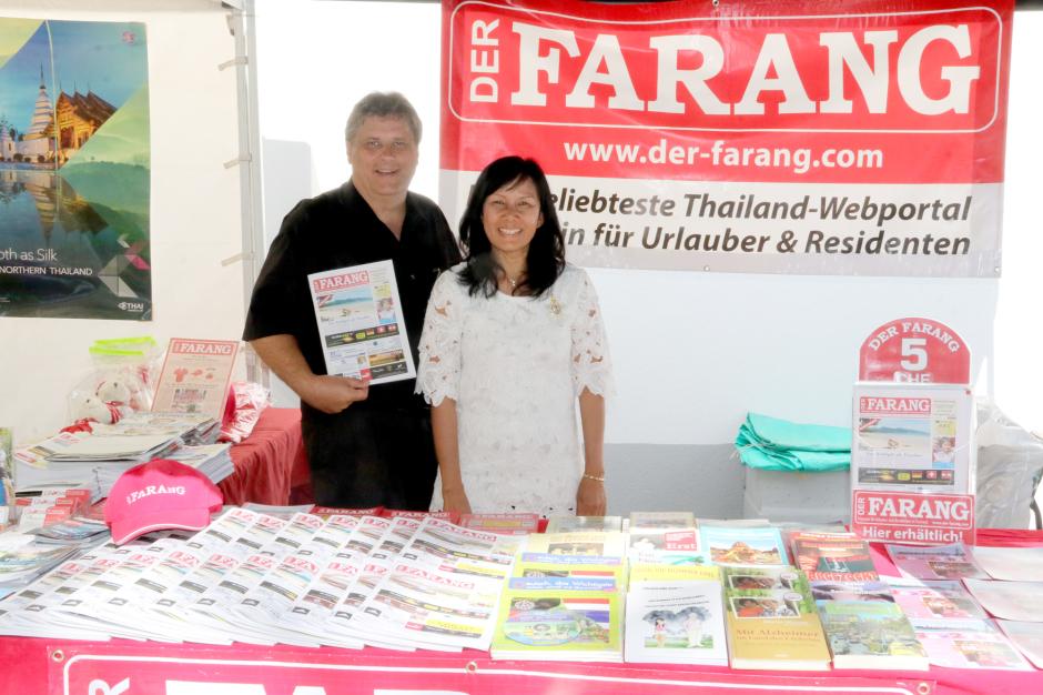 Das Verlegerehepaar Martin Rüegsegger (l.) und Bussaba Rüegsegger-Panthumjinda (r.) freut sich auf Ihren Besuch.
